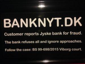 BEDRAGERI Fraud in the Danish banks by by Jyske Bank management #Bank #AnderChristianDam #Gangcrimes #Crimes #Stock #Recommendations #Rental #Property #Lejebolig #Journalist #Press - When the Danish banks deceive their customers a case of fraud in Danish banks against customers :-( :-( When the #Danish #Banks as #jyskebank are making fraud And the gang leader, Anders Dam controls the bank's fraud. :-( Anders Dam Bank's CEO refuses to quit fraud against customers - So it only shows how criminal the Danish jyske bank is. :-) Do not trust the #JyskeBank they are #Lying constantly, when the bank cheats you The fraud that is #organized through by 3 departments, and many members of the organization JYSKE BANK :-( The Danish bank jyske bank is a criminal business Follow the case in Danish law BS 99-698/2015 :-) :-) - Thanks to all of you we meet on the road. Which gives us your full support to the fight against the Danish fraud bank. JYSKE BANK :-) :-) Please ask the bank, jyske bank if we have raised a loan of DKK 4.328.000 In Danish bank nykredit. as the Jyske bank writes to their customer, who is ill after a brain bleeding - As the bank is facing Danish courts and claim is a loan behind the interest rate swap The swsp Jyske Bank itself made 16-07-2008 #Financial #News #Press #Share #Pol #Recommendation #Sale #Firesale #AndersDam #JyskeBank #ATP #PFA #MortenUlrikGade #PhilipBaruch#LES #GF #BirgitBushThuesen #LundElmerSandager #Nykredit #MetteEgholmNielsen #Loan #Fraud #CasperDamOlsen #NicolaiHansen#SørenWoergaard #AnetteKirkeby #Koncernledelse #Jyskebank #Koncernbestyrelsen #SvenBuhrkall #KurtBligaardPedersen #RinaAsmussen #PhilipBaruch #JensABorup #KeldNorup #ChristinaLykkeMunk #HaggaiKunisch #MarianneLillevang #Koncerndirektionen #AndersDam #LeifFLarsen #NielsErikJakobsen #PerSkovhus #PeterSchleidt -IMG_0926