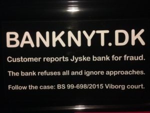 BEDRAGERI Fraud in the Danish banks by by Jyske Bank management #Bank #AnderChristianDam #Gangcrimes #Crimes #Stock #Recommendations #Rental #Property #Lejebolig #Journalist #Press - When the Danish banks deceive their customers a case of fraud in Danish banks against customers :-( :-( When the #Danish #Banks as #jyskebank are making fraud And the gang leader, Anders Dam controls the bank's fraud. :-( Anders Dam Bank's CEO refuses to quit fraud against customers - So it only shows how criminal the Danish jyske bank is. :-) Do not trust the #JyskeBank they are #Lying constantly, when the bank cheats you The fraud that is #organized through by 3 departments, and many members of the organization JYSKE BANK :-( The Danish bank jyske bank is a criminal business Follow the case in Danish law BS 99-698/2015 :-) :-) - Thanks to all of you we meet on the road. Which gives us your full support to the fight against the Danish fraud bank. JYSKE BANK :-) :-) Please ask the bank, jyske bank if we have raised a loan of DKK 4.328.000 In Danish bank nykredit. as the Jyske bank writes to their customer, who is ill after a brain bleeding - As the bank is facing Danish courts and claim is a loan behind the interest rate swap The swsp Jyske Bank itself made 16-07-2008 #Financial #News #Press #Share #Pol #Recommendation #Sale #Firesale #AndersDam #JyskeBank #ATP #PFA #MortenUlrikGade #PhilipBaruch#LES #GF #BirgitBushThuesen #LundElmerSandager #Nykredit #MetteEgholmNielsen #Loan #Fraud #CasperDamOlsen #NicolaiHansen#SørenWoergaard #AnetteKirkeby #Koncernledelse #Jyskebank #Koncernbestyrelsen #SvenBuhrkall #KurtBligaardPedersen #RinaAsmussen #PhilipBaruch #JensABorup #KeldNorup #ChristinaLykkeMunk #HaggaiKunisch #MarianneLillevang #Koncerndirektionen #AndersDam #LeifFLarsen #NielsErikJakobsen #PerSkovhus #PeterSchleidt -IMG_0927