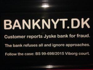 BEDRAGERI Fraud in the Danish banks by by Jyske Bank management #Bank #AnderChristianDam #Gangcrimes #Crimes #Stock #Recommendations #Rental #Property #Lejebolig #Journalist #Press - When the Danish banks deceive their customers a case of fraud in Danish banks against customers :-( :-( When the #Danish #Banks as #jyskebank are making fraud And the gang leader, Anders Dam controls the bank's fraud. :-( Anders Dam Bank's CEO refuses to quit fraud against customers - So it only shows how criminal the Danish jyske bank is. :-) Do not trust the #JyskeBank they are #Lying constantly, when the bank cheats you The fraud that is #organized through by 3 departments, and many members of the organization JYSKE BANK :-( The Danish bank jyske bank is a criminal business Follow the case in Danish law BS 99-698/2015 :-) :-) - Thanks to all of you we meet on the road. Which gives us your full support to the fight against the Danish fraud bank. JYSKE BANK :-) :-) Please ask the bank, jyske bank if we have raised a loan of DKK 4.328.000 In Danish bank nykredit. as the Jyske bank writes to their customer, who is ill after a brain bleeding - As the bank is facing Danish courts and claim is a loan behind the interest rate swap The swsp Jyske Bank itself made 16-07-2008 #Financial #News #Press #Share #Pol #Recommendation #Sale #Firesale #AndersDam #JyskeBank #ATP #PFA #MortenUlrikGade #PhilipBaruch#LES #GF #BirgitBushThuesen #LundElmerSandager #Nykredit #MetteEgholmNielsen #Loan #Fraud #CasperDamOlsen #NicolaiHansen#SørenWoergaard #AnetteKirkeby #Koncernledelse #Jyskebank #Koncernbestyrelsen #SvenBuhrkall #KurtBligaardPedersen #RinaAsmussen #PhilipBaruch #JensABorup #KeldNorup #ChristinaLykkeMunk #HaggaiKunisch #MarianneLillevang #Koncerndirektionen #AndersDam #LeifFLarsen #NielsErikJakobsen #PerSkovhus #PeterSchleidt -IMG_0927