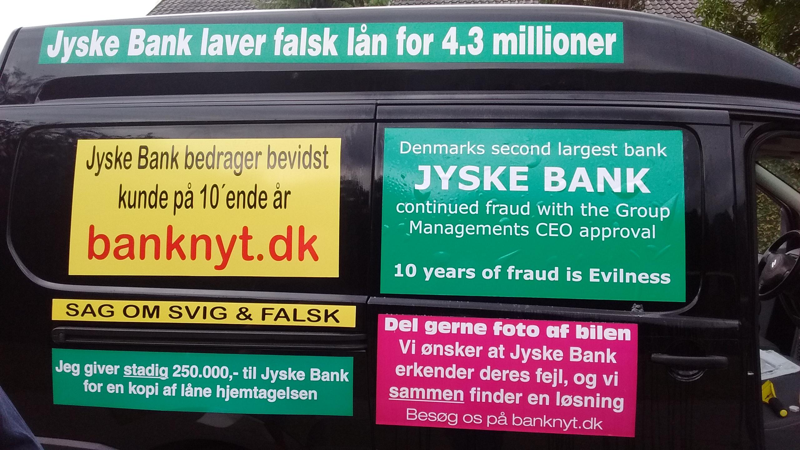Kontakt Jyske Bank hvis du vil have dårlig og løgnagtig rådgivning www.banknyt.dk  Ærlighed finder du ikke i Jyske Bank, denne bank bedrager med ledelsens viden og godkendelse  #Danmarks store #kriminelle #virksomhed  #Danske #Svindel #Bank #Jyskebank kender ikke til #hæderlighed, og #bedrager lille #virksomhed på trods af at #AndersDam og koncern ledelsen er oplyst om, at den kriminelle jyske bank bevist bedrager kunden ved #Svig og #Falsk på 10'ende år. #Ærlighed eller #Hæderlighed  #Lyve #Bedrageri #Dokumentfalsk #Bedrageriske  #Stjålende  - BEDRAGERI  Fraud in the Danish banks by by Jyske Bank management  #Bank #AnderChristianDam    #Gangcrimes #Crimes #Stock #Recommendations #Rental #Property #Lejebolig  #Journalist #Press  -   When the Danish banks deceive their customers   a case of fraud in Danish banks against customers    :-(  :-(    When the #Danish #Banks as #jyskebank are making fraud   And the gang leader, Anders Dam controls the bank's fraud.   :-(    Anders Dam Bank's CEO refuses to quit fraud against customers  -  So it only shows how criminal the Danish jyske bank is.   :-)   Do not trust the #JyskeBank  they are #Lying constantly,   when the bank cheats you    The fraud that is #organized through by 3 departments,  and many members of the organization JYSKE BANK    :-(    The Danish bank jyske bank is a criminal business Follow the case in Danish law BS 99-698/2015    :-) :-)   - Thanks to all of you we meet on the road.    Which gives us your full support to the fight against the Danish fraud bank.   JYSKE BANK    :-)  :-)  Please ask the bank, jyske bank if we have raised a loan of DKK 4.328.000   In Danish bank nykredit.  as the Jyske bank writes to their customer, who is ill after a brain bleeding    -    As the bank is facing Danish courts and claim is a loan behind the interest rate swap  The swsp   Jyske Bank itself made 16-07-2008    #Financial #News #Press #Share #Pol #Recommendation #Sale #Firesale #AndersDam #JyskeBank #ATP #PFA  SøgAsy