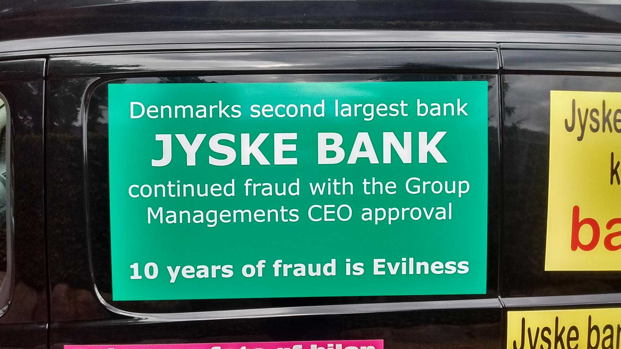 Kontakt Jyske Bank hvis du vil have dårlig og løgnagtig rådgivning www.banknyt.dk  Ærlighed finder du ikke i Jyske Bank, denne bank bedrager med ledelsens viden og godkendelse  #Danmarks store #kriminelle #virksomhed  #Danske #Svindel #Bank #Jyskebank kender ikke til #hæderlighed, og #bedrager lille #virksomhed på trods af at #AndersDam og koncern ledelsen er oplyst om, at den kriminelle jyske bank bevist bedrager kunden ved #Svig og #Falsk på 10'ende år. #Ærlighed eller #Hæderlighed  #Lyve #Bedrageri #Dokumentfalsk #Bedrageriske  #Stjålende  - BEDRAGERI  Fraud in the Danish banks by by Jyske Bank management  #Bank #AnderChristianDam    #Gangcrimes #Crimes #Stock #Recommendations #Rental #Property #Lejebolig  #Journalist #Press  -   When the Danish banks deceive their customers   a case of fraud in Danish banks against customers    :-(  :-(    When the #Danish #Banks as #jyskebank are making fraud   And the gang leader, Anders Dam controls the bank's fraud.   :-(    Anders Dam Bank's CEO refuses to quit fraud against customers  -  So it only shows how criminal the Danish jyske bank is.   :-)   Do not trust the #JyskeBank  they are #Lying constantly,   when the bank cheats you    The fraud that is #organized through by 3 departments,  and many members of the organization JYSKE BANK    :-(    The Danish bank jyske bank is a criminal business Follow the case in Danish law BS 99-698/2015    :-) :-)   - Thanks to all of you we meet on the road.    Which gives us your full support to the fight against the Danish fraud bank.   JYSKE BANK    :-)  :-)  Please ask the bank, jyske bank if we have raised a loan of DKK 4.328.000   In Danish bank nykredit.  as the Jyske bank writes to their customer, who is ill after a brain bleeding    -    As the bank is facing Danish courts and claim is a loan behind the interest rate swap  The swsp   Jyske Bank itself made 16-07-2008    #Financial #News #Press #Share #Pol #Recommendation #Sale #Firesale #AndersDam #JyskeBank #ATP #PFA #Advoka