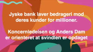 Kontakt Jyske Bank hvis du vil have ærlig rådgivning www.banknyt.dk #Danmarks store #kriminelle #virksomhed #Danske #Svindel #Bank #Jyskebank kender ikke til #hæderlighed, og #bedrager lille #virksomhed på trods af at #AndersDam og koncern ledelsen er oplyst om, at den kriminelle jyske bank bevist bedrager kunden ved #Svig og #Falsk på 10'ende år. #Ærlighed eller #Hæderlighed #Lyve #Bedrageri #Dokumentfalsk #Bedrageriske #Stjålende - BEDRAGERI Fraud in the Danish banks by by Jyske Bank management #Bank #AnderChristianDam #Gangcrimes #Crimes #Stock #Recommendations #Rental #Property #Lejebolig #Journalist #Press - When the Danish banks deceive their customers a case of fraud in Danish banks against customers :-( :-( When the #Danish #Banks as #jyskebank are making fraud And the gang leader, Anders Dam controls the bank's fraud. :-( Anders Dam Bank's CEO refuses to quit fraud against customers - So it only shows how criminal the Danish jyske bank is. :-) Do not trust the #JyskeBank they are #Lying constantly, when the bank cheats you The fraud that is #organized through by 3 departments, and many members of the organization JYSKE BANK :-( The Danish bank jyske bank is a criminal business Follow the case in Danish law BS 99-698/2015 :-) :-) - Thanks to all of you we meet on the road. Which gives us your full support to the fight against the Danish fraud bank. JYSKE BANK :-) :-) Please ask the bank, jyske bank if we have raised a loan of DKK 4.328.000 In Danish bank nykredit. as the Jyske bank writes to their customer, who is ill after a brain bleeding - As the bank is facing Danish courts and claim is a loan behind the interest rate swap The swsp Jyske Bank itself made 16-07-2008 #Financial #News #Press #Share #Pol #Recommendation #Sale #Firesale #AndersDam #JyskeBank #ATP #PFA #MortenUlrikGade #PhilipBaruch#LES #GF #BirgitBushThuesen #LundElmerSandager #Nykredit #MetteEgholmNielsen #Loan #Fraud #CasperDamOlsen #NicolaiHansen#SørenWoergaard #AnetteKirkeby #Koncernledelse #Jyskebank #Koncernbestyrelsen #SvenBuhrkall #KurtBligaardPedersen #RinaAsmussen #PhilipBaruch #JensABorup #KeldNorup #ChristinaLykkeMunk #HaggaiKunisch #MarianneLillevang #Koncerndirektionen #AndersDam #LeifFLarsen #NielsErikJakobsen #PerSkovhus #PeterSchleidt -IMG_2482