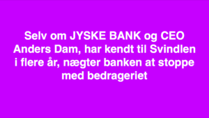 Kontakt Jyske Bank hvis du vil have ærlig rådgivning www.banknyt.dk #Danmarks store #kriminelle #virksomhed #Danske #Svindel #Bank #Jyskebank kender ikke til #hæderlighed, og #bedrager lille #virksomhed på trods af at #AndersDam og koncern ledelsen er oplyst om, at den kriminelle jyske bank bevist bedrager kunden ved #Svig og #Falsk på 10'ende år. #Ærlighed eller #Hæderlighed #Lyve #Bedrageri #Dokumentfalsk #Bedrageriske #Stjålende - BEDRAGERI Fraud in the Danish banks by by Jyske Bank management #Bank #AnderChristianDam #Gangcrimes #Crimes #Stock #Recommendations #Rental #Property #Lejebolig #Journalist #Press - When the Danish banks deceive their customers a case of fraud in Danish banks against customers :-( :-( When the #Danish #Banks as #jyskebank are making fraud And the gang leader, Anders Dam controls the bank's fraud. :-( Anders Dam Bank's CEO refuses to quit fraud against customers - So it only shows how criminal the Danish jyske bank is. :-) Do not trust the #JyskeBank they are #Lying constantly, when the bank cheats you The fraud that is #organized through by 3 departments, and many members of the organization JYSKE BANK :-( The Danish bank jyske bank is a criminal business Follow the case in Danish law BS 99-698/2015 :-) :-) - Thanks to all of you we meet on the road. Which gives us your full support to the fight against the Danish fraud bank. JYSKE BANK :-) :-) Please ask the bank, jyske bank if we have raised a loan of DKK 4.328.000 In Danish bank nykredit. as the Jyske bank writes to their customer, who is ill after a brain bleeding - As the bank is facing Danish courts and claim is a loan behind the interest rate swap The swsp Jyske Bank itself made 16-07-2008 #Financial #News #Press #Share #Pol #Recommendation #Sale #Firesale #AndersDam #JyskeBank #ATP #PFA #MortenUlrikGade #PhilipBaruch#LES #GF #BirgitBushThuesen #LundElmerSandager #Nykredit #MetteEgholmNielsen #Loan #Fraud #CasperDamOlsen #NicolaiHansen#SørenWoergaard #AnetteKirkeby #Koncernledelse #Jyskebank #Koncernbestyrelsen #SvenBuhrkall #KurtBligaardPedersen #RinaAsmussen #PhilipBaruch #JensABorup #KeldNorup #ChristinaLykkeMunk #HaggaiKunisch #MarianneLillevang #Koncerndirektionen #AndersDam #LeifFLarsen #NielsErikJakobsen #PerSkovhus #PeterSchleidt -IMG_2483