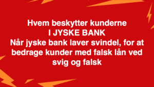 Kontakt Jyske Bank hvis du vil have ærlig rådgivning www.banknyt.dk #Danmarks store #kriminelle #virksomhed #Danske #Svindel #Bank #Jyskebank kender ikke til #hæderlighed, og #bedrager lille #virksomhed på trods af at #AndersDam og koncern ledelsen er oplyst om, at den kriminelle jyske bank bevist bedrager kunden ved #Svig og #Falsk på 10'ende år. #Ærlighed eller #Hæderlighed #Lyve #Bedrageri #Dokumentfalsk #Bedrageriske #Stjålende - BEDRAGERI Fraud in the Danish banks by by Jyske Bank management #Bank #AnderChristianDam #Gangcrimes #Crimes #Stock #Recommendations #Rental #Property #Lejebolig #Journalist #Press - When the Danish banks deceive their customers a case of fraud in Danish banks against customers :-( :-( When the #Danish #Banks as #jyskebank are making fraud And the gang leader, Anders Dam controls the bank's fraud. :-( Anders Dam Bank's CEO refuses to quit fraud against customers - So it only shows how criminal the Danish jyske bank is. :-) Do not trust the #JyskeBank they are #Lying constantly, when the bank cheats you The fraud that is #organized through by 3 departments, and many members of the organization JYSKE BANK :-( The Danish bank jyske bank is a criminal business Follow the case in Danish law BS 99-698/2015 :-) :-) - Thanks to all of you we meet on the road. Which gives us your full support to the fight against the Danish fraud bank. JYSKE BANK :-) :-) Please ask the bank, jyske bank if we have raised a loan of DKK 4.328.000 In Danish bank nykredit. as the Jyske bank writes to their customer, who is ill after a brain bleeding - As the bank is facing Danish courts and claim is a loan behind the interest rate swap The swsp Jyske Bank itself made 16-07-2008 #Financial #News #Press #Share #Pol #Recommendation #Sale #Firesale #AndersDam #JyskeBank #ATP #PFA #MortenUlrikGade #PhilipBaruch#LES #GF #BirgitBushThuesen #LundElmerSandager #Nykredit #MetteEgholmNielsen #Loan #Fraud #CasperDamOlsen #NicolaiHansen#SørenWoergaard #AnetteKirkeby #Koncernledelse #Jyskebank #Koncernbestyrelsen #SvenBuhrkall #KurtBligaardPedersen #RinaAsmussen #PhilipBaruch #JensABorup #KeldNorup #ChristinaLykkeMunk #HaggaiKunisch #MarianneLillevang #Koncerndirektionen #AndersDam #LeifFLarsen #NielsErikJakobsen #PerSkovhus #PeterSchleidt -IMG_2484
