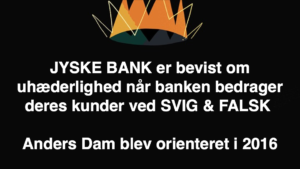 Kontakt Jyske Bank hvis du vil have ærlig rådgivning www.banknyt.dk #Danmarks store #kriminelle #virksomhed #Danske #Svindel #Bank #Jyskebank kender ikke til #hæderlighed, og #bedrager lille #virksomhed på trods af at #AndersDam og koncern ledelsen er oplyst om, at den kriminelle jyske bank bevist bedrager kunden ved #Svig og #Falsk på 10'ende år. #Ærlighed eller #Hæderlighed #Lyve #Bedrageri #Dokumentfalsk #Bedrageriske #Stjålende - BEDRAGERI Fraud in the Danish banks by by Jyske Bank management #Bank #AnderChristianDam #Gangcrimes #Crimes #Stock #Recommendations #Rental #Property #Lejebolig #Journalist #Press - When the Danish banks deceive their customers a case of fraud in Danish banks against customers :-( :-( When the #Danish #Banks as #jyskebank are making fraud And the gang leader, Anders Dam controls the bank's fraud. :-( Anders Dam Bank's CEO refuses to quit fraud against customers - So it only shows how criminal the Danish jyske bank is. :-) Do not trust the #JyskeBank they are #Lying constantly, when the bank cheats you The fraud that is #organized through by 3 departments, and many members of the organization JYSKE BANK :-( The Danish bank jyske bank is a criminal business Follow the case in Danish law BS 99-698/2015 :-) :-) - Thanks to all of you we meet on the road. Which gives us your full support to the fight against the Danish fraud bank. JYSKE BANK :-) :-) Please ask the bank, jyske bank if we have raised a loan of DKK 4.328.000 In Danish bank nykredit. as the Jyske bank writes to their customer, who is ill after a brain bleeding - As the bank is facing Danish courts and claim is a loan behind the interest rate swap The swsp Jyske Bank itself made 16-07-2008 #Financial #News #Press #Share #Pol #Recommendation #Sale #Firesale #AndersDam #JyskeBank #ATP #PFA #MortenUlrikGade #PhilipBaruch#LES #GF #BirgitBushThuesen #LundElmerSandager #Nykredit #MetteEgholmNielsen #Loan #Fraud #CasperDamOlsen #NicolaiHansen#SørenWoergaard #AnetteKirkeby #Koncernledelse #Jyskebank #Koncernbestyrelsen #SvenBuhrkall #KurtBligaardPedersen #RinaAsmussen #PhilipBaruch #JensABorup #KeldNorup #ChristinaLykkeMunk #HaggaiKunisch #MarianneLillevang #Koncerndirektionen #AndersDam #LeifFLarsen #NielsErikJakobsen #PerSkovhus #PeterSchleidt -IMG_2488