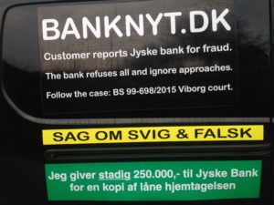 Kontakt Jyske Bank hvis du vil have ærlig rådgivning www.banknyt.dk #Danmarks store #kriminelle #virksomhed #Danske #Svindel #Bank #Jyskebank kender ikke til #hæderlighed, og #bedrager lille #virksomhed på trods af at #AndersDam og koncern ledelsen er oplyst om, at den kriminelle jyske bank bevist bedrager kunden ved #Svig og #Falsk på 10'ende år. #Ærlighed eller #Hæderlighed #Lyve #Bedrageri #Dokumentfalsk #Bedrageriske #Stjålende - BEDRAGERI Fraud in the Danish banks by by Jyske Bank management #Bank #AnderChristianDam #Gangcrimes #Crimes #Stock #Recommendations #Rental #Property #Lejebolig #Journalist #Press - When the Danish banks deceive their customers a case of fraud in Danish banks against customers :-( :-( When the #Danish #Banks as #jyskebank are making fraud And the gang leader, Anders Dam controls the bank's fraud. :-( Anders Dam Bank's CEO refuses to quit fraud against customers - So it only shows how criminal the Danish jyske bank is. :-) Do not trust the #JyskeBank they are #Lying constantly, when the bank cheats you The fraud that is #organized through by 3 departments, and many members of the organization JYSKE BANK :-( The Danish bank jyske bank is a criminal business Follow the case in Danish law BS 99-698/2015 :-) :-) - Thanks to all of you we meet on the road. Which gives us your full support to the fight against the Danish fraud bank. JYSKE BANK :-) :-) Please ask the bank, jyske bank if we have raised a loan of DKK 4.328.000 In Danish bank nykredit. as the Jyske bank writes to their customer, who is ill after a brain bleeding - As the bank is facing Danish courts and claim is a loan behind the interest rate swap The swsp Jyske Bank itself made 16-07-2008 #Financial #News #Press #Share #Pol #Recommendation #Sale #Firesale #AndersDam #JyskeBank #ATP #PFA #MortenUlrikGade #PhilipBaruch#LES #GF #BirgitBushThuesen #LundElmerSandager #Nykredit #MetteEgholmNielsen #Loan #Fraud #CasperDamOlsen #NicolaiHansen#SørenWoergaard #AnetteKirkeby #Koncernledelse #Jyskebank #Koncernbestyrelsen #SvenBuhrkall #KurtBligaardPedersen #RinaAsmussen #PhilipBaruch #JensABorup #KeldNorup #ChristinaLykkeMunk #HaggaiKunisch #MarianneLillevang #Koncerndirektionen #AndersDam #LeifFLarsen #NielsErikJakobsen #PerSkovhus #PeterSchleidt -IMG_2656