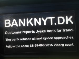 Kontakt Jyske Bank hvis du vil have ærlig rådgivning www.banknyt.dk #Danmarks store #kriminelle #virksomhed #Danske #Svindel #Bank #Jyskebank kender ikke til #hæderlighed, og #bedrager lille #virksomhed på trods af at #AndersDam og koncern ledelsen er oplyst om, at den kriminelle jyske bank bevist bedrager kunden ved #Svig og #Falsk på 10'ende år. #Ærlighed eller #Hæderlighed #Lyve #Bedrageri #Dokumentfalsk #Bedrageriske #Stjålende - BEDRAGERI Fraud in the Danish banks by by Jyske Bank management #Bank #AnderChristianDam #Gangcrimes #Crimes #Stock #Recommendations #Rental #Property #Lejebolig #Journalist #Press - When the Danish banks deceive their customers a case of fraud in Danish banks against customers :-( :-( When the #Danish #Banks as #jyskebank are making fraud And the gang leader, Anders Dam controls the bank's fraud. :-( Anders Dam Bank's CEO refuses to quit fraud against customers - So it only shows how criminal the Danish jyske bank is. :-) Do not trust the #JyskeBank they are #Lying constantly, when the bank cheats you The fraud that is #organized through by 3 departments, and many members of the organization JYSKE BANK :-( The Danish bank jyske bank is a criminal business Follow the case in Danish law BS 99-698/2015 :-) :-) - Thanks to all of you we meet on the road. Which gives us your full support to the fight against the Danish fraud bank. JYSKE BANK :-) :-) Please ask the bank, jyske bank if we have raised a loan of DKK 4.328.000 In Danish bank nykredit. as the Jyske bank writes to their customer, who is ill after a brain bleeding - As the bank is facing Danish courts and claim is a loan behind the interest rate swap The swsp Jyske Bank itself made 16-07-2008 #Financial #News #Press #Share #Pol #Recommendation #Sale #Firesale #AndersDam #JyskeBank #ATP #PFA #MortenUlrikGade #PhilipBaruch#LES #GF #BirgitBushThuesen #LundElmerSandager #Nykredit #MetteEgholmNielsen #Loan #Fraud #CasperDamOlsen #NicolaiHansen#SørenWoergaard #AnetteKirkeby #Koncernledelse #Jyskebank #Koncernbestyrelsen #SvenBuhrkall #KurtBligaardPedersen #RinaAsmussen #PhilipBaruch #JensABorup #KeldNorup #ChristinaLykkeMunk #HaggaiKunisch #MarianneLillevang #Koncerndirektionen #AndersDam #LeifFLarsen #NielsErikJakobsen #PerSkovhus #PeterSchleidt -IMG_3090