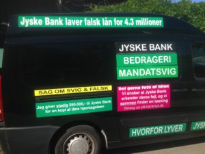 Kontakt Jyske Bank hvis du vil have ærlig rådgivning www.banknyt.dk #Danmarks store #kriminelle #virksomhed #Danske #Svindel #Bank #Jyskebank kender ikke til #hæderlighed, og #bedrager lille #virksomhed på trods af at #AndersDam og koncern ledelsen er oplyst om, at den kriminelle jyske bank bevist bedrager kunden ved #Svig og #Falsk på 10'ende år. #Ærlighed eller #Hæderlighed #Lyve #Bedrageri #Dokumentfalsk #Bedrageriske #Stjålende - BEDRAGERI Fraud in the Danish banks by by Jyske Bank management #Bank #AnderChristianDam #Gangcrimes #Crimes #Stock #Recommendations #Rental #Property #Lejebolig #Journalist #Press - When the Danish banks deceive their customers a case of fraud in Danish banks against customers :-( :-( When the #Danish #Banks as #jyskebank are making fraud And the gang leader, Anders Dam controls the bank's fraud. :-( Anders Dam Bank's CEO refuses to quit fraud against customers - So it only shows how criminal the Danish jyske bank is. :-) Do not trust the #JyskeBank they are #Lying constantly, when the bank cheats you The fraud that is #organized through by 3 departments, and many members of the organization JYSKE BANK :-( The Danish bank jyske bank is a criminal business Follow the case in Danish law BS 99-698/2015 :-) :-) - Thanks to all of you we meet on the road. Which gives us your full support to the fight against the Danish fraud bank. JYSKE BANK :-) :-) Please ask the bank, jyske bank if we have raised a loan of DKK 4.328.000 In Danish bank nykredit. as the Jyske bank writes to their customer, who is ill after a brain bleeding - As the bank is facing Danish courts and claim is a loan behind the interest rate swap The swsp Jyske Bank itself made 16-07-2008 #Financial #News #Press #Share #Pol #Recommendation #Sale #Firesale #AndersDam #JyskeBank #ATP #PFA #MortenUlrikGade #PhilipBaruch#LES #GF #BirgitBushThuesen #LundElmerSandager #Nykredit #MetteEgholmNielsen #Loan #Fraud #CasperDamOlsen #NicolaiHansen#SørenWoergaard #AnetteKirkeby #Koncernledelse #Jyskebank #Koncernbestyrelsen #SvenBuhrkall #KurtBligaardPedersen #RinaAsmussen #PhilipBaruch #JensABorup #KeldNorup #ChristinaLykkeMunk #HaggaiKunisch #MarianneLillevang #Koncerndirektionen #AndersDam #LeifFLarsen #NielsErikJakobsen #PerSkovhus #PeterSchleidt -IMG_3099