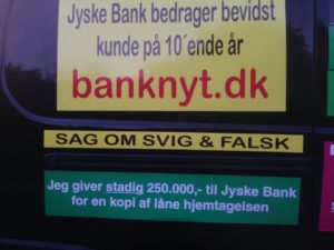 Kontakt Jyske Bank hvis du vil have ærlig rådgivning www.banknyt.dk #Danmarks store #kriminelle #virksomhed #Danske #Svindel #Bank #Jyskebank kender ikke til #hæderlighed, og #bedrager lille #virksomhed på trods af at #AndersDam og koncern ledelsen er oplyst om, at den kriminelle jyske bank bevist bedrager kunden ved #Svig og #Falsk på 10'ende år. #Ærlighed eller #Hæderlighed #Lyve #Bedrageri #Dokumentfalsk #Bedrageriske #Stjålende - BEDRAGERI Fraud in the Danish banks by by Jyske Bank management #Bank #AnderChristianDam #Gangcrimes #Crimes #Stock #Recommendations #Rental #Property #Lejebolig #Journalist #Press - When the Danish banks deceive their customers a case of fraud in Danish banks against customers :-( :-( When the #Danish #Banks as #jyskebank are making fraud And the gang leader, Anders Dam controls the bank's fraud. :-( Anders Dam Bank's CEO refuses to quit fraud against customers - So it only shows how criminal the Danish jyske bank is. :-) Do not trust the #JyskeBank they are #Lying constantly, when the bank cheats you The fraud that is #organized through by 3 departments, and many members of the organization JYSKE BANK :-( The Danish bank jyske bank is a criminal business Follow the case in Danish law BS 99-698/2015 :-) :-) - Thanks to all of you we meet on the road. Which gives us your full support to the fight against the Danish fraud bank. JYSKE BANK :-) :-) Please ask the bank, jyske bank if we have raised a loan of DKK 4.328.000 In Danish bank nykredit. as the Jyske bank writes to their customer, who is ill after a brain bleeding - As the bank is facing Danish courts and claim is a loan behind the interest rate swap The swsp Jyske Bank itself made 16-07-2008 #Financial #News #Press #Share #Pol #Recommendation #Sale #Firesale #AndersDam #JyskeBank #ATP #PFA #MortenUlrikGade #PhilipBaruch#LES #GF #BirgitBushThuesen #LundElmerSandager #Nykredit #MetteEgholmNielsen #Loan #Fraud #CasperDamOlsen #NicolaiHansen#SørenWoergaard #AnetteKirkeby #Koncernledelse #Jyskebank #Koncernbestyrelsen #SvenBuhrkall #KurtBligaardPedersen #RinaAsmussen #PhilipBaruch #JensABorup #KeldNorup #ChristinaLykkeMunk #HaggaiKunisch #MarianneLillevang #Koncerndirektionen #AndersDam #LeifFLarsen #NielsErikJakobsen #PerSkovhus #PeterSchleidt -IMG_3110